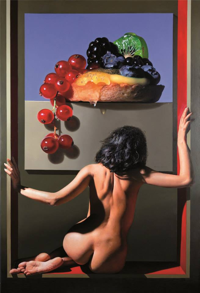 """Nicchia Dei Desideri"" by Luigi Benedicenti Oil on panel, 42,5'' x 63''."