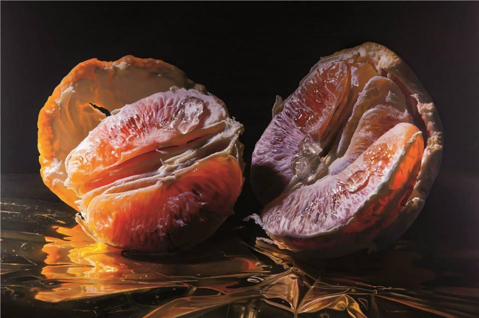 """Tarocco"" by Luigi Benedicenti Oil on panel, 55'' x 39,25''."