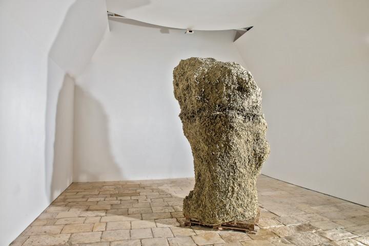Victor Agius. 'Mother' 2004. Raw clay, 'Ggantija 2013 Project,  St James Cavalier, Valletta Malta. 1.5 x 1.4 x 3.1m