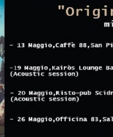 """Cilento, Emanuele Montesano presenta dal vivo il suo nuovo album: """"Origine"""", con un mini-tour"""