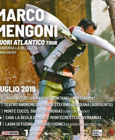 Marco Mengoni, Fuori Atlantico attraversa la bellezza: 5 speciali appuntamenti estivi
