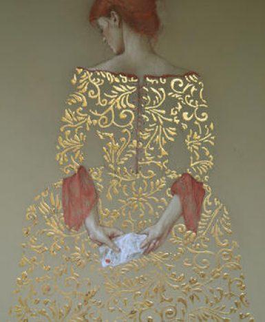 Art&Finance: le opere in foglia d'oro di Stephanie Rew
