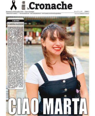 Il giornalismo campano piange la morte di Marta Naddei