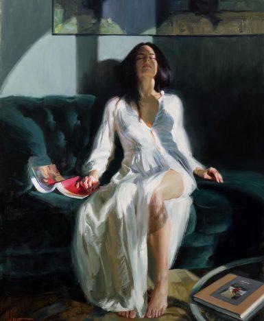 "Cesare Pavese: ""È cominciata la cadenza del soffrire…"" (Painting V. Volegov)"