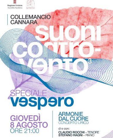 Collemancio di Cannara (PG), 8 agosto: Armonie dal cuore, a Suoni Controvento va in scena la lirica
