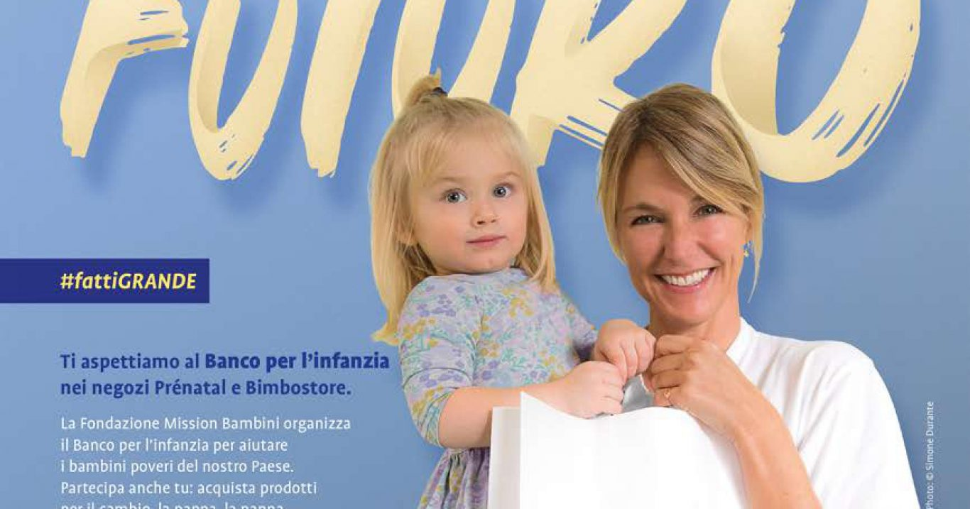 """Prénatal e Bimbostore di tutta Italia, 25 e 26 maggio: """"Banco per l'infanzia"""": un aiuto concreto  per i bambini in difficoltà"""