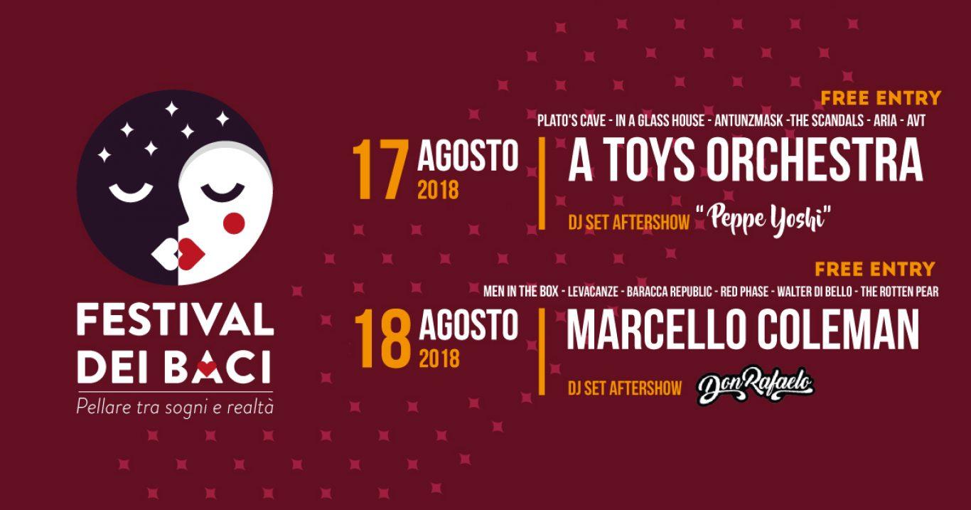 """Pellare (SA), 17 e 18 agosto: nasce il """"Festival dei baci"""""""