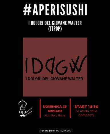 Vallo della Lucania (SA) domenica 26 maggio: I dolori del giovane Walter