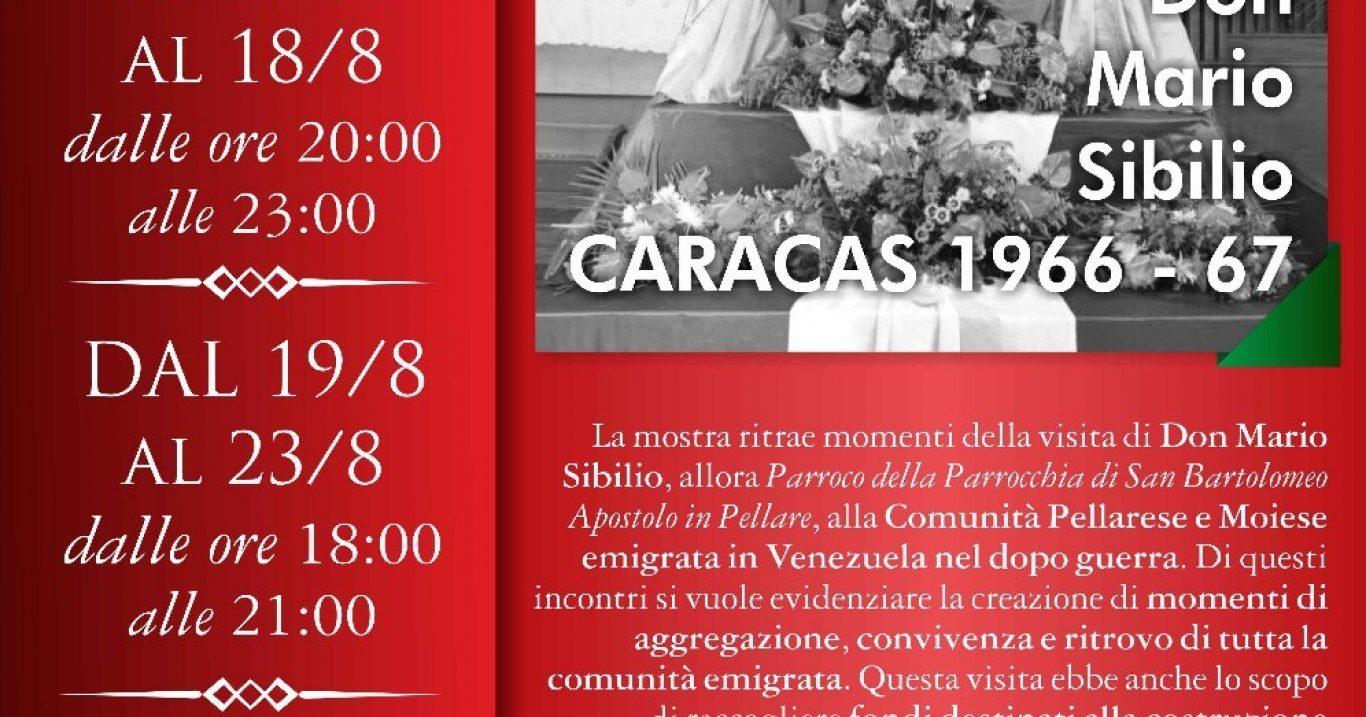 "Pellare (SA), 16 – 26 agosto: Mostra fotografica ""Caracas 1966 – '67, visita pastorale di Don Mario Sibilio"""