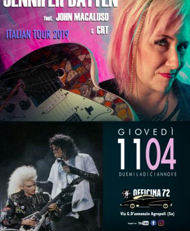 Agropoli (SA), 11 aprile: la chitarrista di Michael Jackson, Jennifer Batten, dal vivo all'Officina72