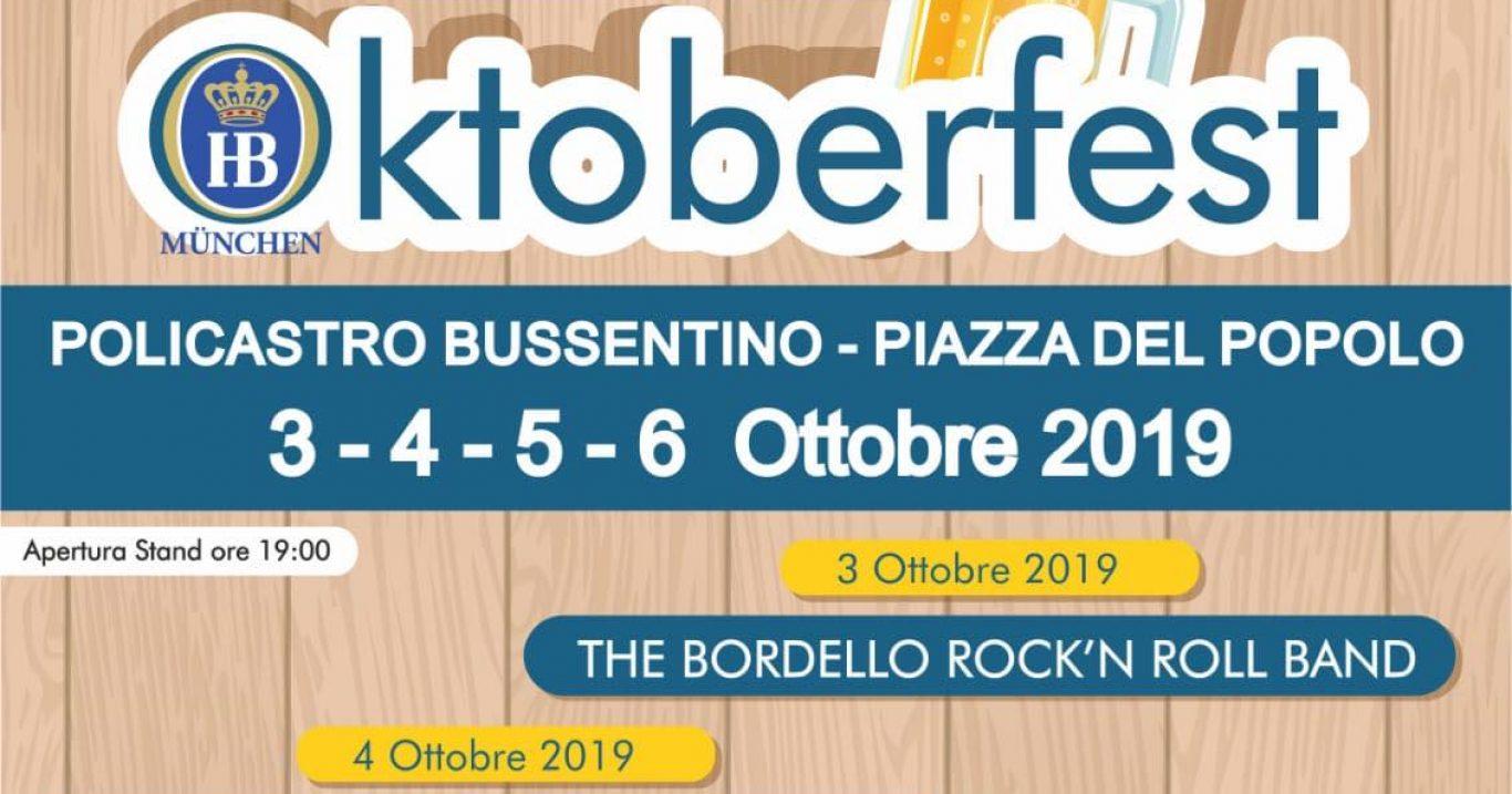 A Policastro (SA) arriva l'Oktoberfest, con il Cilento Beer Fest: 4 giorni di cucina tipica tedesca, musica live e dirette radio