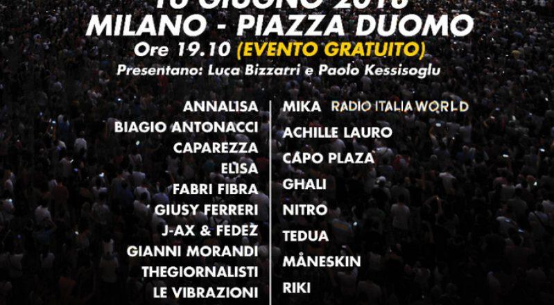 """#rilive Milano, 16 giugno: """"RADIO ITALIA LIVE – IL CONCERTO"""" (Foto)"""