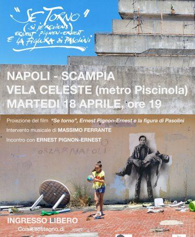 """""""Se torno"""", Ernest Pignon-Ernest e la figura di Pasolini alle Vele di Scampia (NA)"""