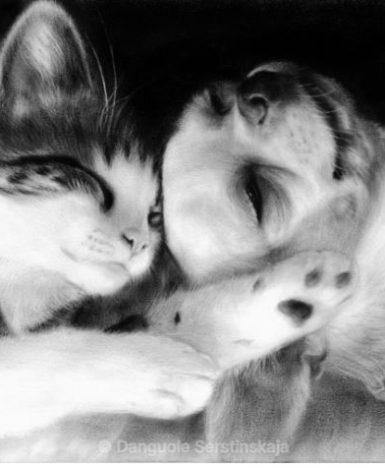 """Art&Finance: gli animali a """"pennello a secco"""" di Danguole Serstinskaja"""