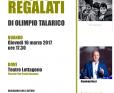 """Bergamo, presentazione del libro di Olimpio Talarico """"Amori Regalati"""""""