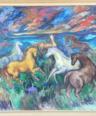 Art&Finance: Cavalli e tramonto rosso di Gaetano Miani (scheda di lettura)