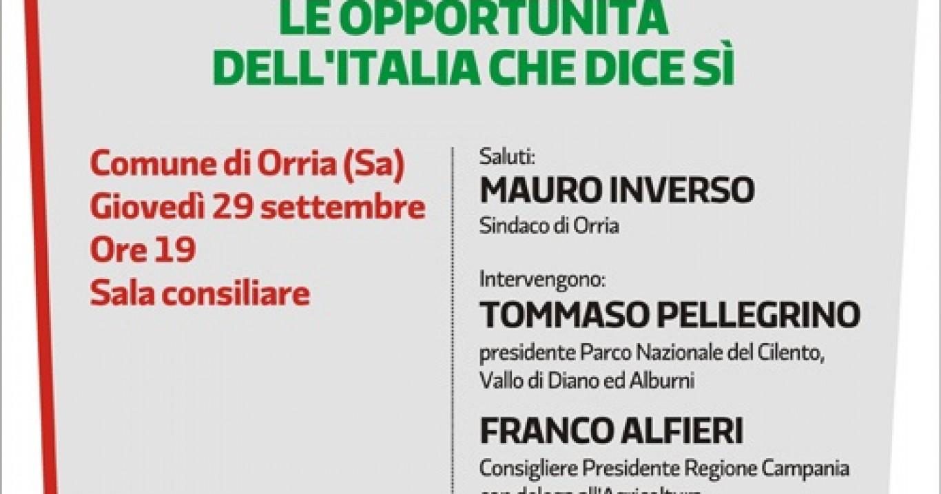 """Orria (Sa), dibattito sulla legge """"piccoli comuni, montagna e centri storici"""": presente Sabrina Capozzolo (Pd)"""