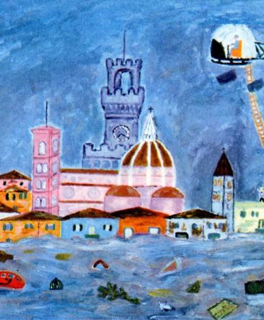 Firenze: L'alluvione del '66 nell'archivio storico di Indire. Una mostra online tra foto e disegni degli alunni dell'epoca