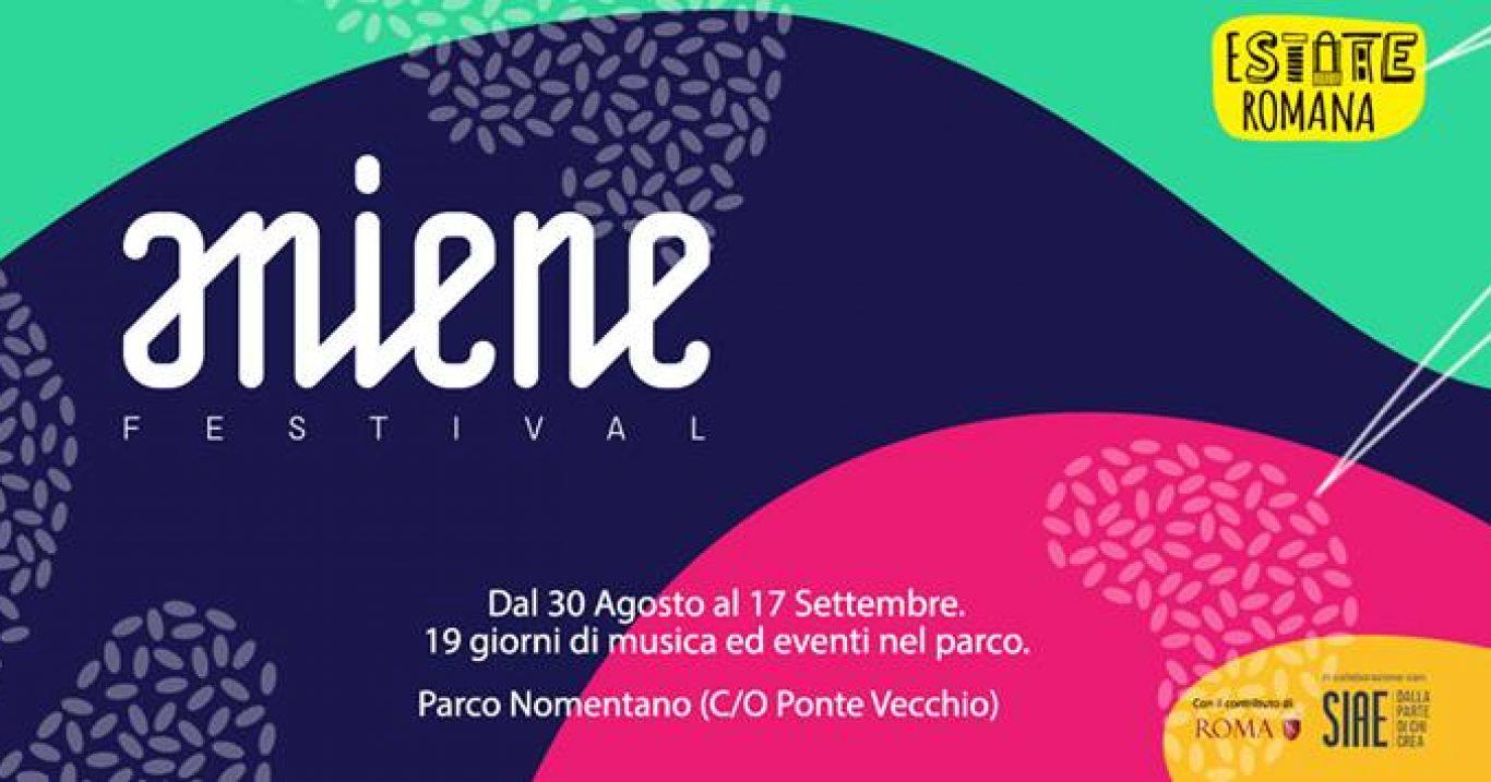 Roma, dal 30 agosto: Aniene Festival, un fiume in piena