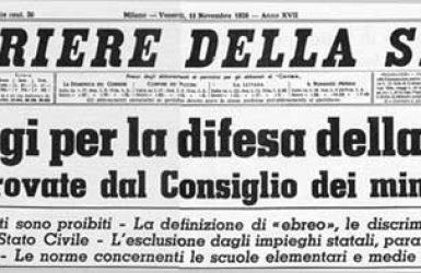 1938: inizio delle Leggi Razziali, pagina buia della storia italiana
