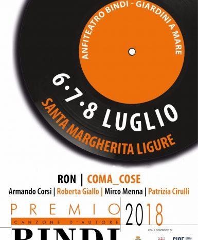 Santa Margherita Ligure (GE), 6 – 8 luglio: Premio Bindi 2018